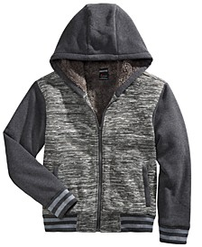 Big Boys Hooded Jacket With Faux-Sherpa Lining