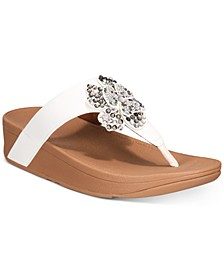 Lottie Corsage Thong Sandals