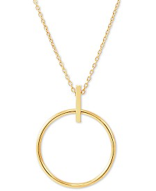 "Open Circle 17"" Pendant Necklace in 14k Gold"