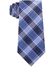Men's Thin Double Track Check Tie