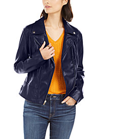 Tommy Hilfiger Faux-Leather Moto Jacket, Created for Macy's