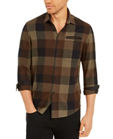 Sean John Men's Buffalo Plaid Flannel Shirt