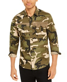 Sean John Men's Utility Flight Shirt