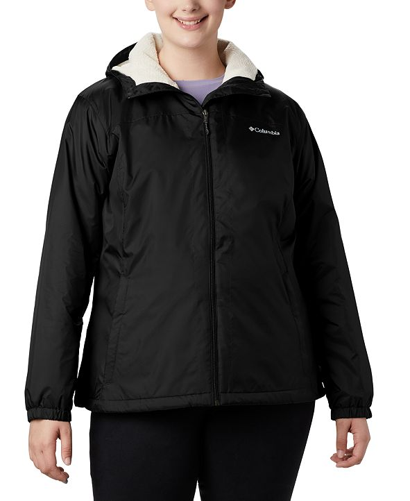 Columbia Plus Size Lined Rain Jacket