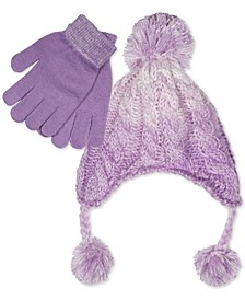 Big Girls 2-Pc. Ombré Heidi Hat & Gloves Set