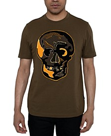 Men's Chenille Skull Graphic T-Shirt