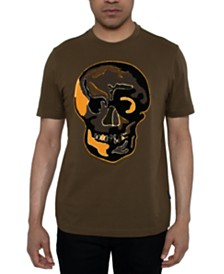 Sean John Men's Chenille Skull Graphic T-Shirt