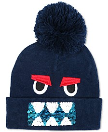 Big Boys Reversible Sequin Hat & Mittens Set