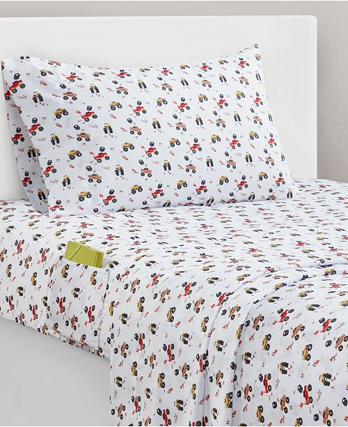 JLA Home Tucker Trucks Sheet Sets
