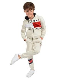Little Boys Andrew Colorblocked Fleece Hoodie & Kent Logo Sweatpants