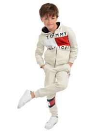 Tommy Hilfiger Little Boys Andrew Colorblocked Fleece Hoodie & Kent Logo Sweatpants