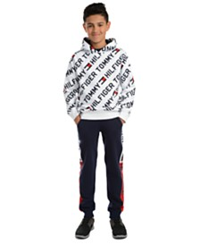 Tommy Hilfiger Big Boys Jayden Fleece Logo Hoodie & Chaka Sweatpants