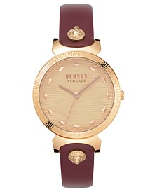 Women's Marion Burgundy Leather Strap Watch 36mm
