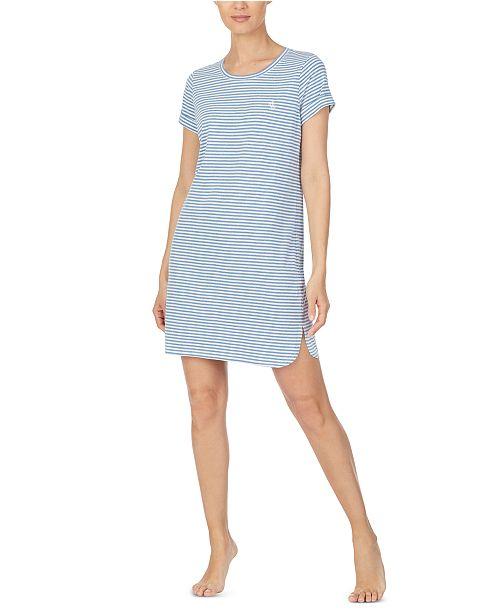 Lauren Ralph Lauren Striped Sleepshirt Nightgown