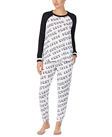 Raglan Top & Jogger Pants Pajamas Set