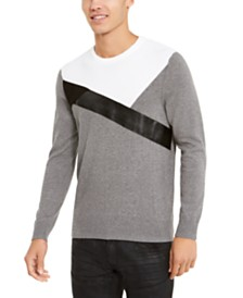 I.N.C. Men's Colorblocked Sweater, Created For Macy's