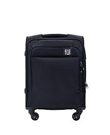 """FUL Flemington 21"""" Soft Sided Rolling Luggage Suitcase"""