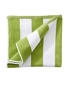 Great Bay Home Plush Cabana Stripe Velour Beach Towel Set of 2