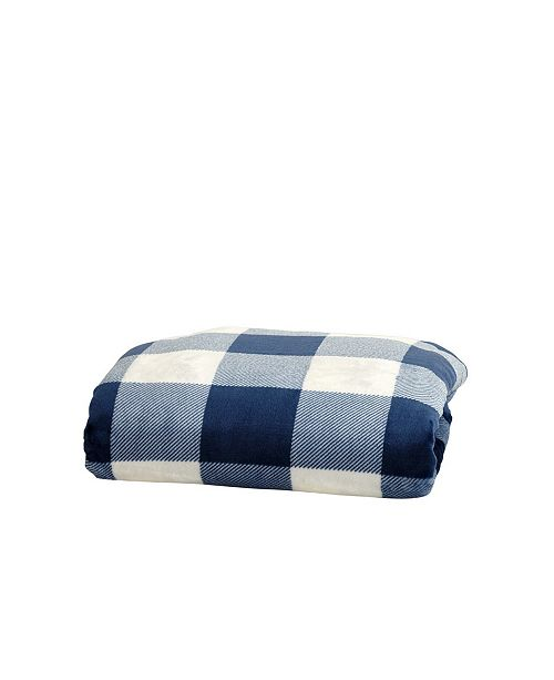 Great Bay Home Fashions Great Bay Home Super Soft Velvet Plush Throw Blanket With Buffalo Check Design Reviews Blankets Throws Bed Bath Macy S