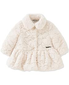Calvin Klein Baby Girls Embossed Faux-Fur Coat