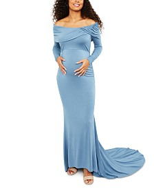 Motherhood Maternity Off-The-Shoulder Maxi Dress