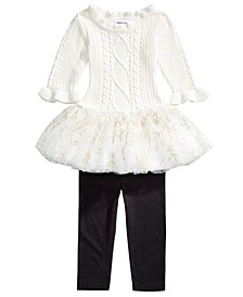 Baby Girls 2-Pc. Skirted Sweater & Leggings Set