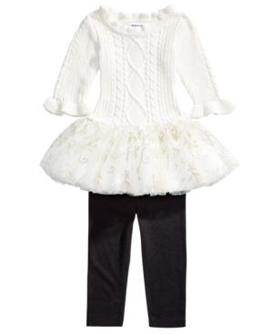 Blueberi Boulevard Baby Girls 2-Pc. Skirted Sweater & Leggings Set