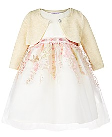 Baby Girls 2-Pc. Sparkle Shrug & Floral Dress Set