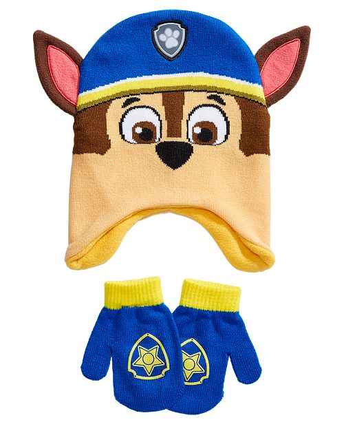 Accessory Innovations Toddler Boys 2-Pc. PAW Patrol Chase Hat & Mittens Set