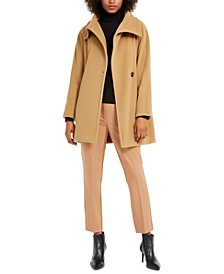 Funnel-Neck Wool-Blend Coat