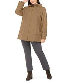 London Fog Plus Size Hooded Coat
