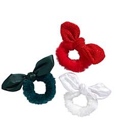 Little & Big Girls 3-Pk. Faux-Fur Bow Hair Wraps