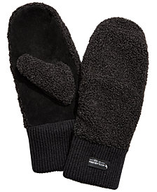 Koolaburra By UGG® Faux-Shearling Mittens with Knit Cuff
