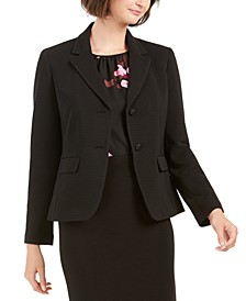 2-Button Textured Blazer