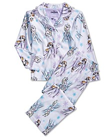 Little & Big Girls Frozen-Print Pajama Set