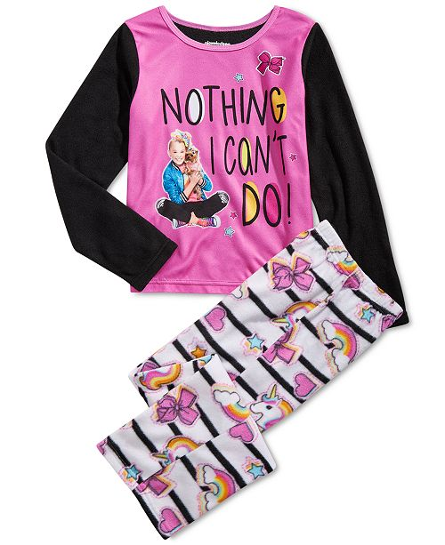 AME Little & Big Girls 2-Pc. JoJo Siwa Fleece Pajama Set