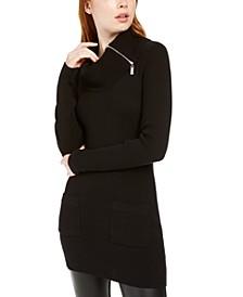 Juniors' Cowlneck Sweater Dress