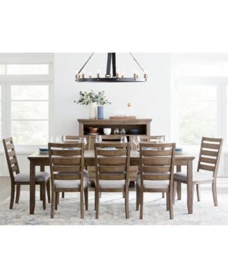 Mesa Dining Furniture, 9-Pc. Set (Expandable Table & 8 Side Chairs), Created for Macy's