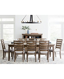 Mesa Dining 9-Pc. Set (Expandable Table & 8 Side Chairs), Created for Macy's