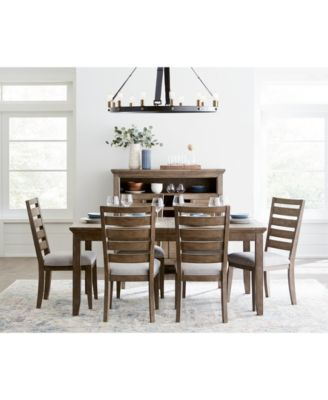 Mesa Dining Furniture, 7-Pc. Set (Expandable Table & 6 Side Chairs), Created for Macy's