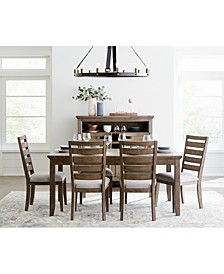 Mesa Dining 7-Pc. Set (Expandable Table & 6 Side Chairs), Created for Macy's