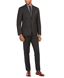 Orange Men's Slim-Fit Stretch Black Solid Suit