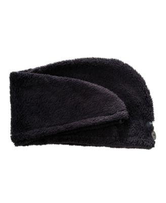 Upper Canada Soap SD8168BK Hair Turban Wrap Black