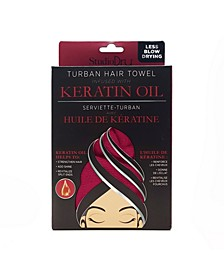 Turban Hair Towel Infused with Keratin Oil