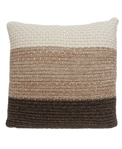Parkland Collection Athea Transitional Multicolor Pillow Cover With Down Insert