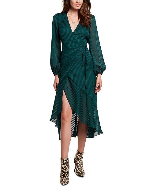 Bardot Striped Wrap Dress