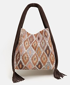 Mango Fringe Hobo Bag