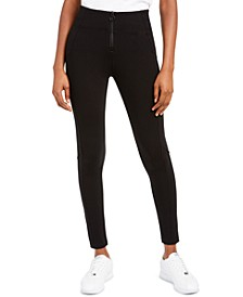 Juniors' Zip Front Ponte Pants