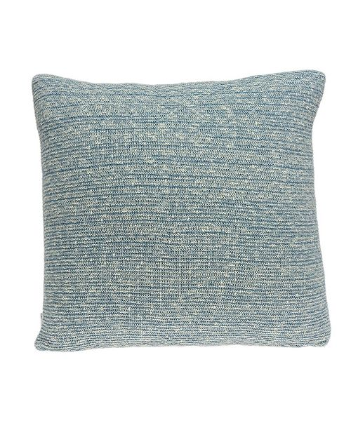 Parkland Collection Tobi Transitional Blue Pillow Cover With Down Insert