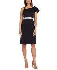 Nightway Petite One-Shoulder Dress